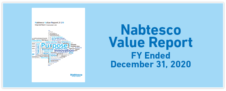 Nabtesco Value Report  FY Ended December 31, 2017