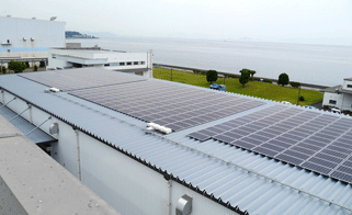 Solar panels at Toyo Jidoki Co., Ltd.